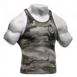 UTILITY RIB T-BACK - Gris Camouflage