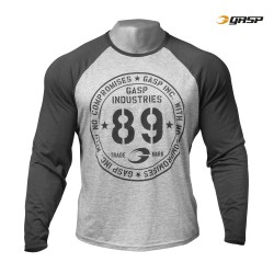 RAGLAN LONG SLEEVE TEE - Grey melange